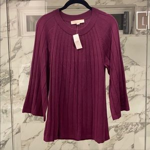 Eggplant Knitted Blouse